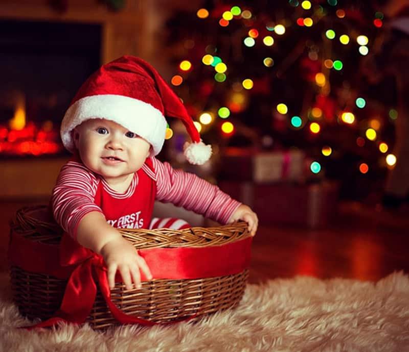 ensaio de natal com bebê, newborn ou família