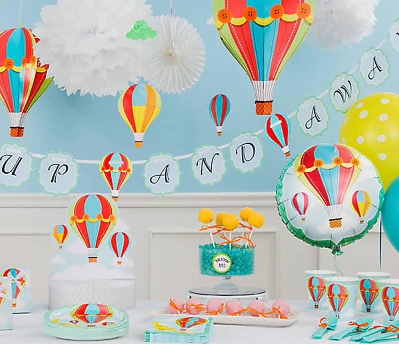 chá de bebê de menino com tema balão