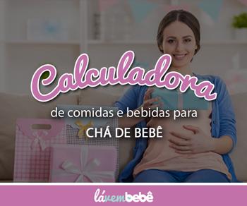 Lá Vem Bebê - Calculadora de Comidas e Bebidas para Chá de Bebê