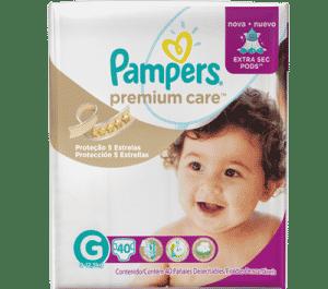 Pampers Premium Care garante bebê sequinho