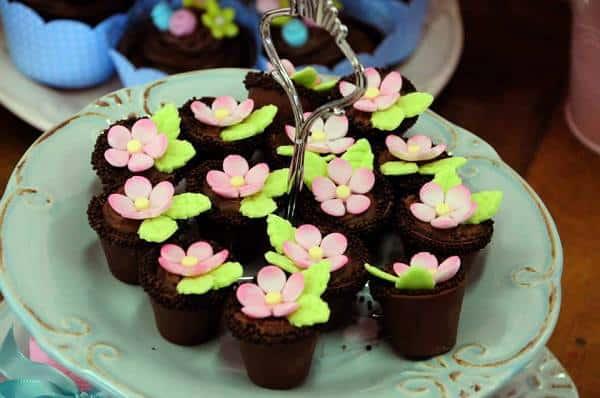 As flores, mais uma vez, mas agora nos cupcakes
