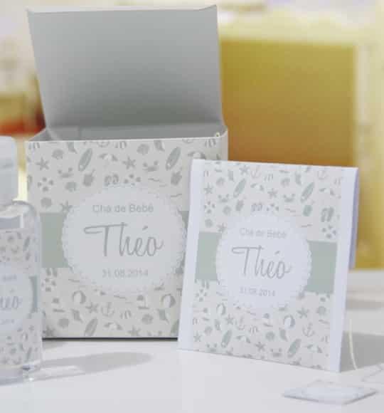 Sachês de chá como lembrancinhas para o chá de fraldas