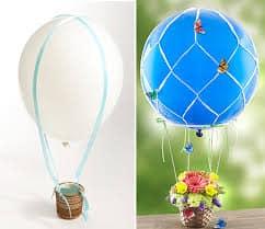 """Balão com vasinho de flores da <a href=""""http://criativartesanato.com.br"""">Criativa Artesanato</a>"""