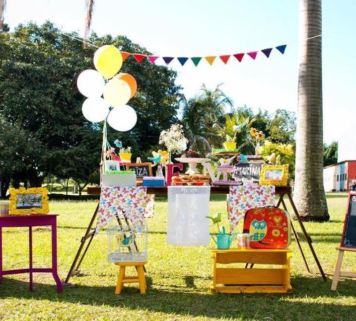 Chá de bebê ao ar livre - inspiração da Festiva Viva